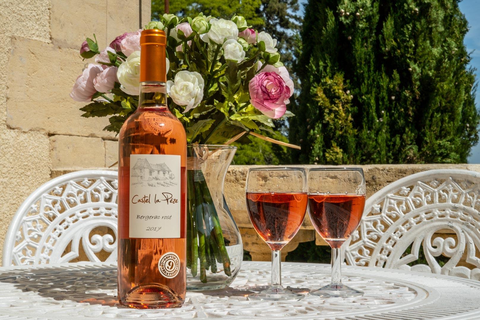 Bouteille vin castel lapeze Chateau Rauly location bergerac Monbazillac