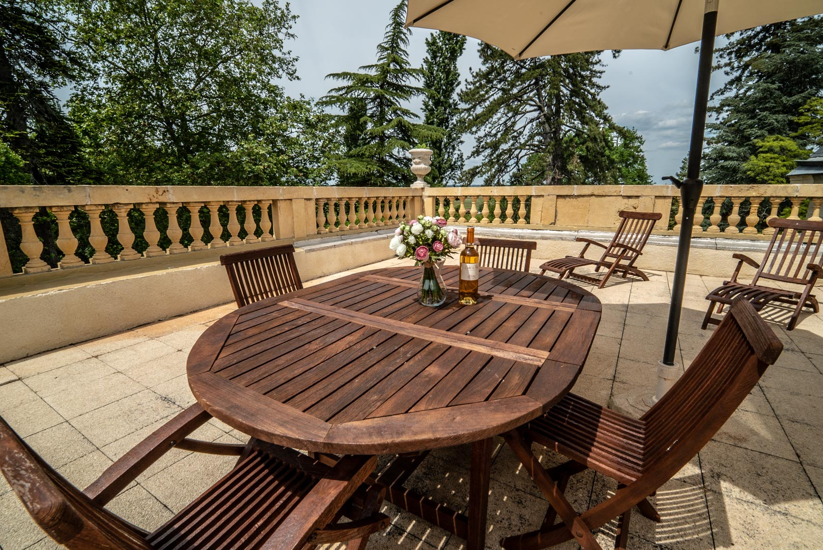 Terrasse Chateau Rauly location bergerac Monbazillac